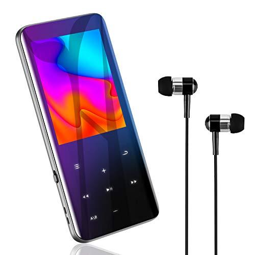 MP3プレーヤー 『2020最新進化型・高速5.0』Bluetooth5.0 MP3プレーヤー 音楽プレーヤー HIFI超高音質 2.4インチHD大画面/3D曲面 16GB内蔵 128GBまで拡張可能 スピーカー内臓 SDカード対応 超軽量 ワンタッチ録音 FMラジオ多機能 ポータブルオーディオプレーヤー 日本語対応 日本語説明書付き