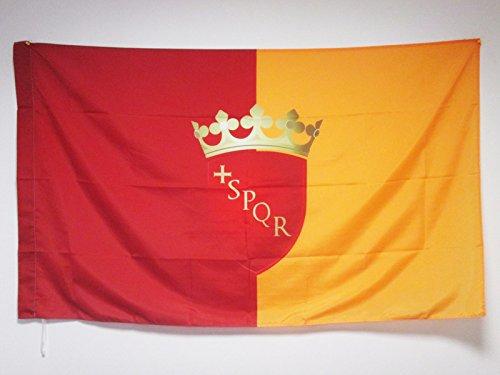 AZ FLAG Flagge ROM MIT Waffen 150x90cm - Roma Fahne 90 x 150 cm Scheide für Mast - flaggen Top Qualität