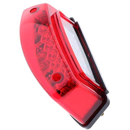 MagiDeal Piloto Universal LED Luz Trasera Trasera Luz de Freno Luz de Intermitencia Rojo 12V