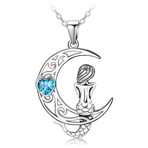 Sterling Silver Sea Mermaid Necklace