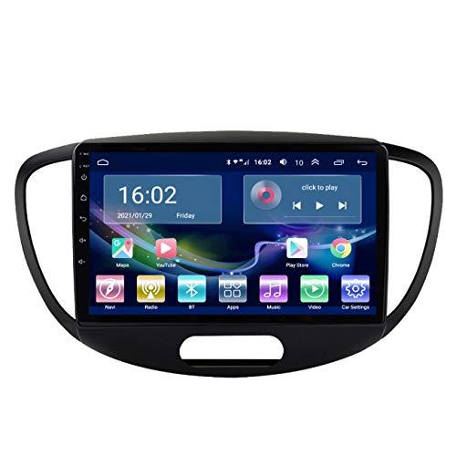 Autoradio, Lettore multimediale per autoradio Android 10 per Hyundai Grand I10 2008-2012, lettore multimediale per autoradio HD 2 DIN Car Stereo MP5 Bluetooth,4g+wifi 1g+32g