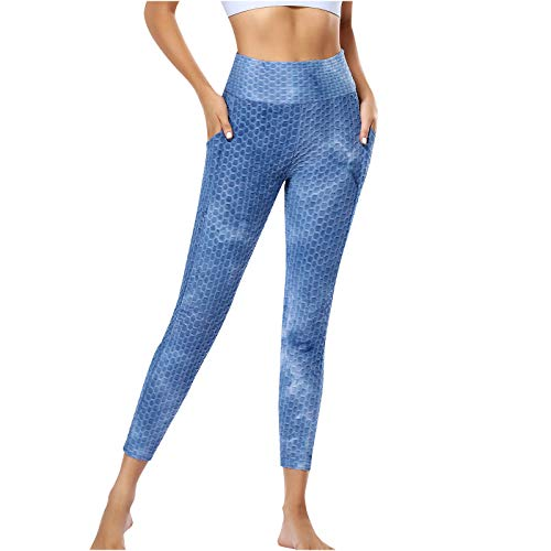 Pantalones de Yoga de Cintura Alta con Bolsillos Leggings para Mujer, Pantalones...