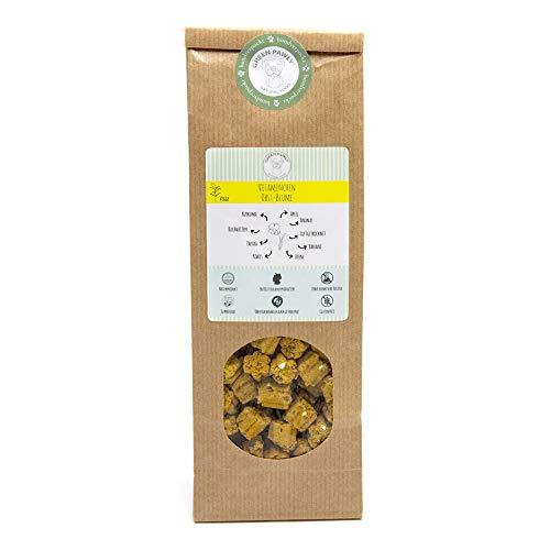 Green PAWLY Leckerlies für Hunde(150 g) - vegetarisch, mit viel Obst und wertvollen SUPERFOODS, schonend luftgetrocknet, glutenfrei, allergenfrei, Naturprodukt, chemiefrei, handverpackt