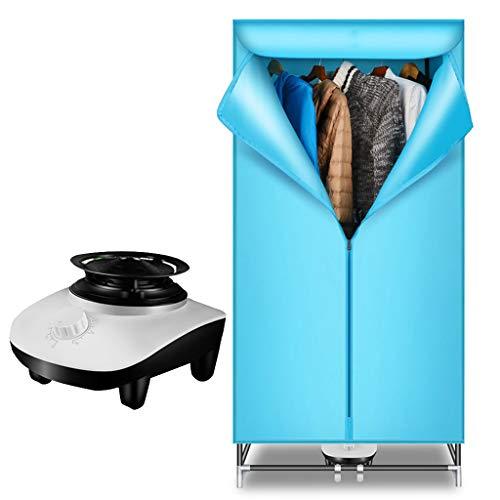 TBTBGXQ Secador Secadora de Ropa eléctrico eléctricas Múltiples Funciones de Doble Capa 900W temporización muda doméstica Gran Capacidad 15KG de Material de tubería de Hierro Grueso galvanizado,Blue