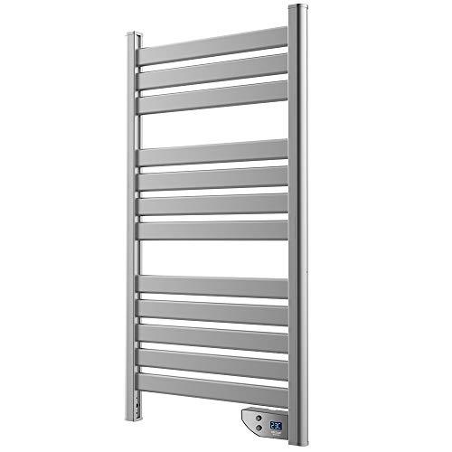 Cecotec Ready Warm 9050 - Toallero de bajo Consumo, doble Función Radiador y Seca Toallas, Apto para Baño (IP24), Temporizador, Pantalla, Diseño Moderno, 500 W, Gris