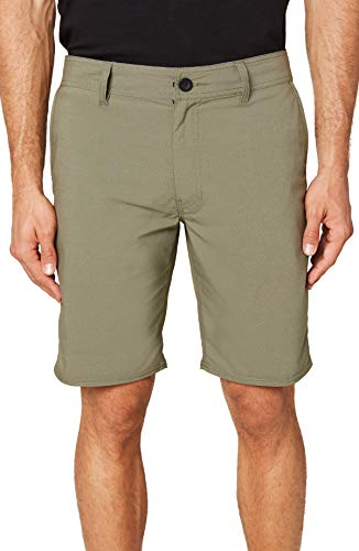 O'NEILL Men's Water Resistant Hybrid Walk Short, 20 Inch Outseam (Army/Stockton, 36)