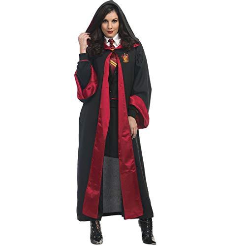 HOOLAZA Schwarz Unisex Mit Kapuze Cape Hogwarts Schule für Hexerei und Zauberei Student Teacher Robe Wizard Hexe Rollenspiel Kostüm Dress Up