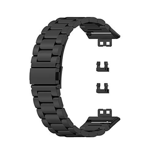 Fovely Armband Kompatibel mit Huawei Watch Fit Active Smartwatch - Schnellverschluss Edelstahl Metall Armbänder Ersatz Verstellbare Armbänder