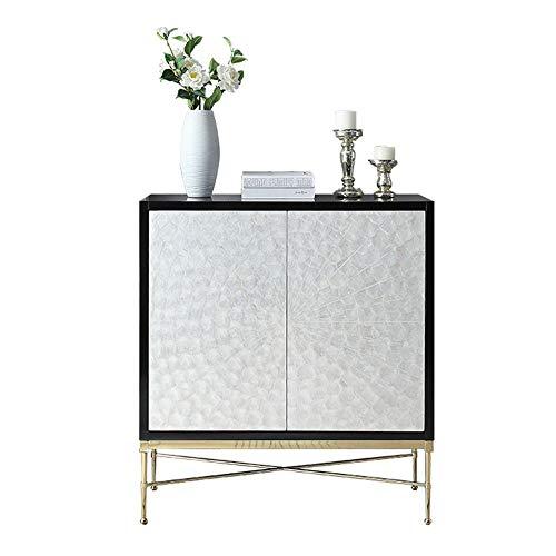 Cómoda Sideboard Aparador Moderno Buffet Cocina Comedor Almacenamiento Sala de Estar contemporánea Estilo bufé Servidor Sala Gabinete de Almacenamiento (Color : White, Size : 100x36x95cm)