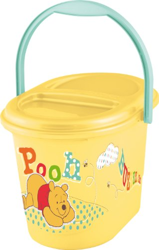 "keeeper 11800208054 karol ""winnie the pooh"" windeleimer mit deckel und tragegriff honey yellow"