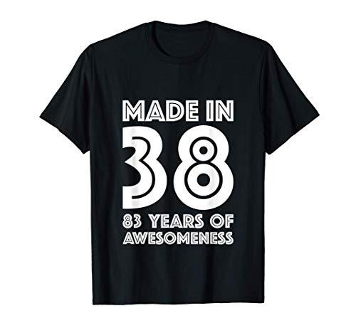 Regali di 83° compleanno per le donne 83 anni nonna 1938 Maglietta