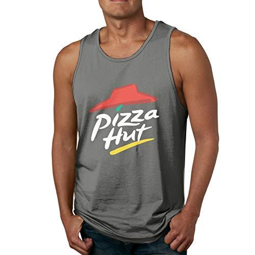 GUANGZHOUHONGYUAN Pizza Hut Man's Tank Top Shirt Soft Fashion Classic Tank Top Shirt Deep Heather