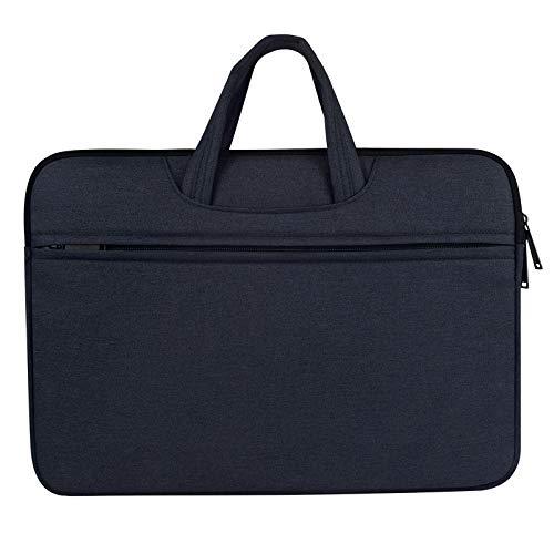 Breathable Wear-resistant Shoulder Handheld Zipper Laptop Bag, For 15.6 inch and Below durable (Color : Navy Blue)