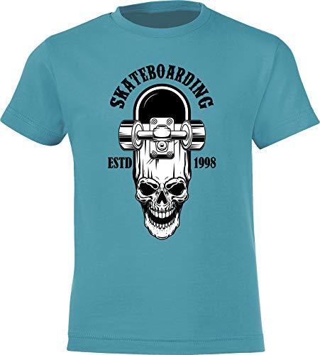 Kinder Skateboard T-Shirt: Skateboarding Estd. 1998 - Skaten Skater Skaters Board - Shirt für Jungen Junge & Mädchen Geschenk-Idee zum Geburtstag für Kind Kinder Birthday Sport (122/128)
