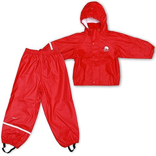 CeLaVi Mädchen CeLaVi zweiteiliger Regenanzug in vielen Farben Regenjacke,,per pack Rot (Roth 402),(Herstellergröße:120)