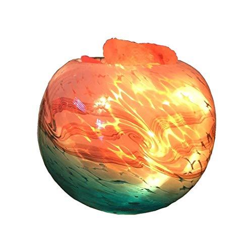 KX&VV Zout Lamp Himalaya Natuurlijke Kristal Zout Lamp Nachtlampje met Dimmer Schakelaar Thuis Decoraties Kinderkamer Geschenken Bureau Licht Verbeter Luchtkwaliteit Verlicht Stress Veiligheid Kleine Tafellamp