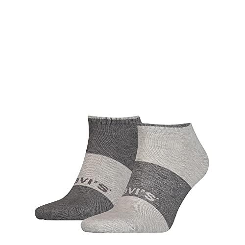 Levi's Plant Based Dying Low Cut Socks 2 Pack Scarpe da Ginnastica, Grey Combo, 43 Regular Unisex-Adulto
