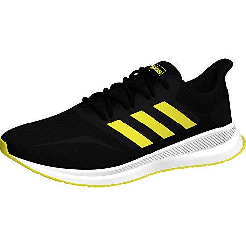 adidas Herren RUNFALCON Sneaker, Schwarz (Core Black/Shock Yellow/Footwear White 0), 44 2/3 EU