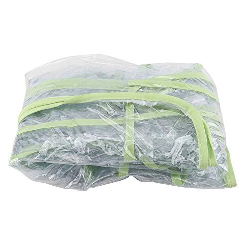 Ranvo Mosquitera para Carrito, Cubierta Impermeable para Lluvia para Cochecito de PVC, protección de(Green Edge Rain Cover)