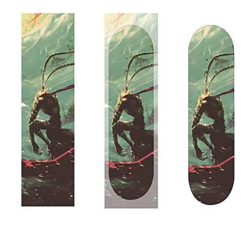 lija scooter ejes carver Cinta para patineta,84 * 23cm,sin burbujas,impermeable,papel de lija para scooter,papel de lija para longboard,papel de lija para patineta,escaleras,pedales,sillas de ruedas