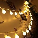 linterna led con bola blanca luces de decoración navideña luces navideñas navideñas cadena de iluminación Batería 3m30 leds