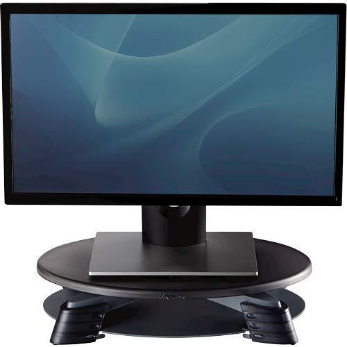 Fellowes Monitorständer mit 45° drehbarer Plattform, höhenverstellbar, für TFT/LCD Monitore bis 14 kg, kompakt