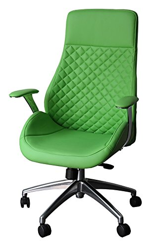 "212606 Bürodrehstuhl Designer Drehstuhl Chefsessel Racer\""GT\""grün ClassicCarSeat"