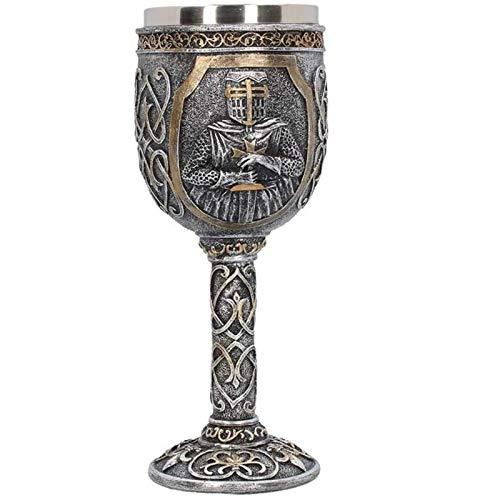 Siunwdiy Von Ritter Goblet Rüstung Samurai-hohe Rotweinglas Persönlichkeit Geschenk Bier Paladin Edelstahl Cup Spiel Thrones Gläser Merchandise Medieval,A