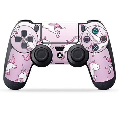 DeinDesign Skin kompatibel mit Sony Playstation 4 PS4 Controller Folie Sticker Einhorn Unicorn Muster