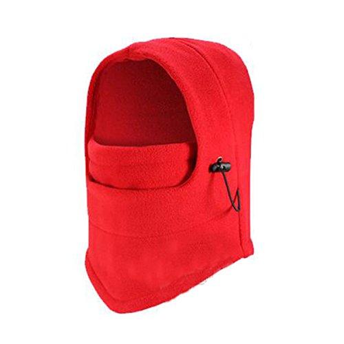 ECYC® Winter Windproof RandonnéE Caps Thermique Polaire Balaclava Masque Visage, Rouge