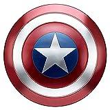 Escudo Capitan America Metal 1: 1 Vengadores Disfraz De Metal Shield Adulto NiñOs SuperhéRoe Retro Disfraz Escudo Halloween Cosplay Props 47cm