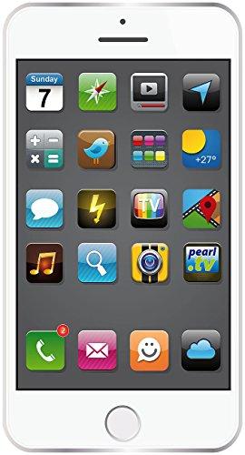 PEARL Badetuch im Smartphone-Design 170 x 100 cm, weiß