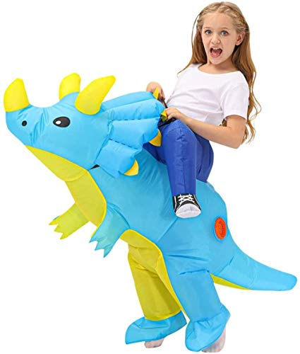 Disfraz inflable de dinosaurio para niños, adolescentes, adultos, divertido para fiestas de cosplay, accesorios para disfraz, accesorios