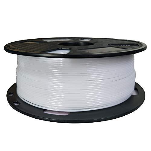 Filamento PETG de fácil impresión, color blanco, 1,75 mm, 1 kg, filamento de impresión 3D,...