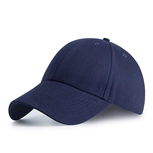 HGDGears Baumwolle Baseball Kappe Snapback Trucker Cap Verstellbar Sport Visier Hut für Herren und Damen (Marine)