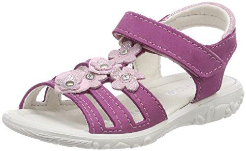 RICOSTA Mädchen Riemchensandalen Chica, Weite: Mittel (WMS), Kinderschuhe Spielen verspielt detailreich Freizeit Sandalette,rosada,26 EU / 8 Child UK