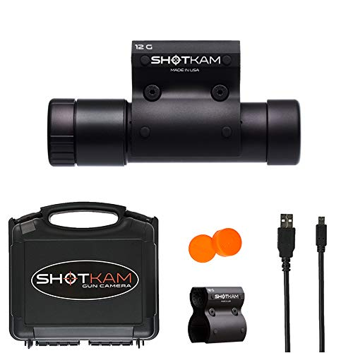 ShotKam 12-Gauge Model (3rd Gen) - Digital Action Camera with Mounting Bracket for Clay Target Sports and Hunting, Black