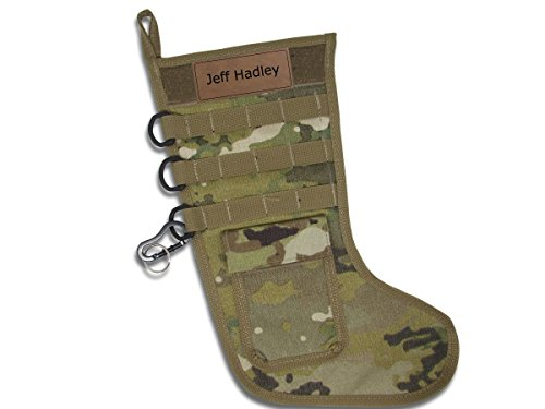 Lazer Designs Personalized Tactical Christmas Stocking Hanging Christmas Stockings Ready to be Stuffed in Camo