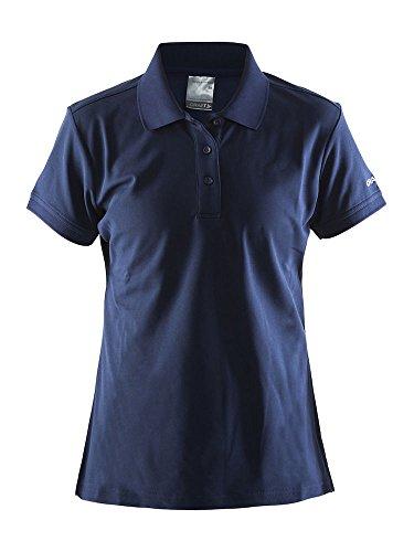 Craft Polo Pique Classic W - pour Femme - Bleu Marine - Taille L