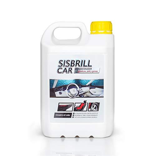 Sisbrill Car, Acondicionador Multi-Top de Salpicaderos, Plásticos y Piel - Abrillantador Satinado - Tacto Seco - 5 litros