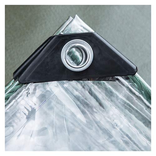 ALGWXQ Transparentes Lonas De Toldos Invernadero Jardín Tienda Funda Protectora contra La Lluvia Lona Impermeable con Ojal, 2 Espesores, 24 Especificaciones (Color : 0.3mm, Size : 2x2m)