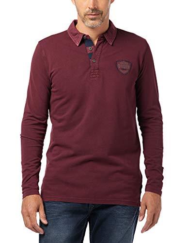 Pioneer Herren Polo Shirt LS Poloshirt, Rot (Bordeaux 809), X-Large (Herstellergröße: XL)