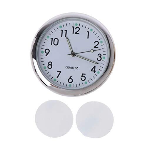 IADZ Despertador, Reloj Universal para automóvil, Reloj electrónico Adhesivo, Tablero de Instrumentos, decoración noctilucente para automóviles SUV