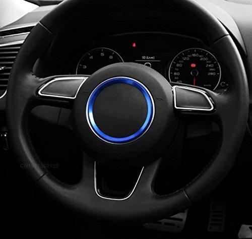 Emblem Trading Lenkrad Emblem Rahmen Blau Für Logo A1 A3 S3 RS3 A4 S4 RS4 A5 S5 RS5 A6 S6 RS6 A7 S7 RS7 A8 S8 Q3 SQ3 Q5 SQ5 TT TTRS