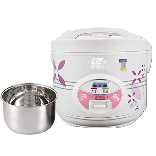 DHTOMC Cocina eléctrica Cocina de arroz, 3L-5L HOGAR, Forro de Acero Inoxidable, Mini Olla de arroz, Cocina de arroz de distribución Multifuncional (2-7 Personas) (Tamaño: 4L) Xping (Size : 4L)
