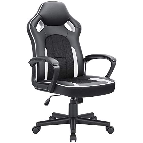 JUMMICO Gaming Chair Ergonomic Executive Office Desk Chair High Back Leather...