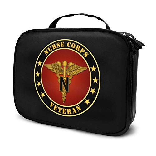 Army Nurse Corps Logo Makeup Bag Cosmetic Organizer Toiletry Beauty Case Travel Pouch