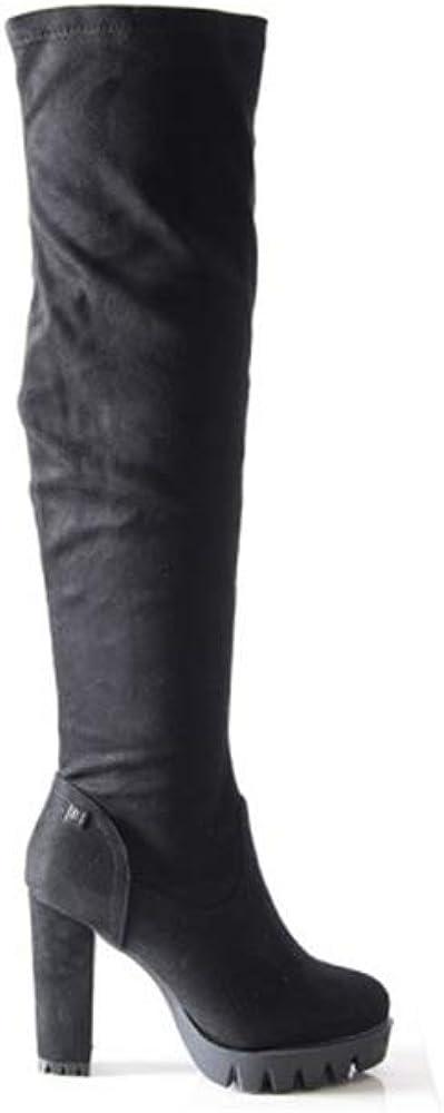 Laura biagiotti,stivali alti per donna,in pelle scamosciata 5060