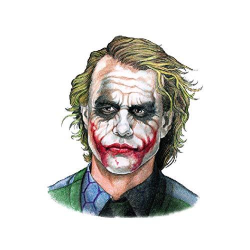 adgkitb 5 stücke Joker Tattoo Aufkleber Wasserdicht Halloween Parteibevorzugung Dekoration Gefälschte Tätowierungen SF3964 10,5X6 cm