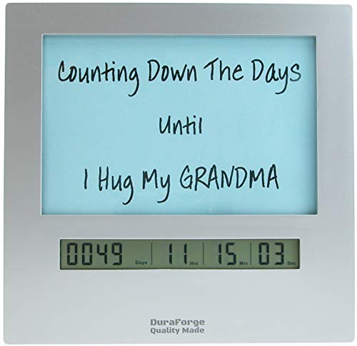 Custom Social Distancing Countdown Clock, Fun Quarantine Gifts for Birthday Party with a Large Display Digital Timer & 4x6 Picture Frame, Change Photo & Count Down to Any Other Event